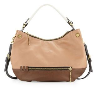 orYANY Leather Color Block Hobo Bag